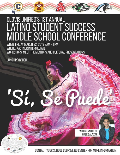 Latino Student Success Middle School Conference Flyer