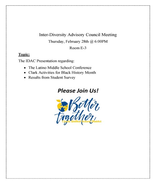 IDAC Meeting Flyer