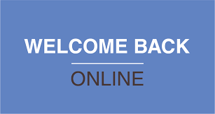 Welcome Back Online