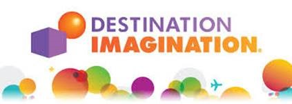 Destination Imagination Text with colorful circles